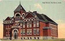 D19/ Ida Grove Iowa Ia Postcard c1910 High School Building