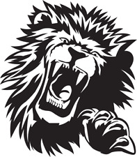 LARGE lion head claw car van bonnet side vinyl stickers graphic vw bmw ford boat