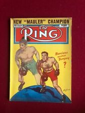 """1952, Rocky Marciano, """"The RING"""" Magazine (No Label) Scarce / Vintage"""