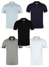 Camisetas de hombre de manga corta azul de poliéster