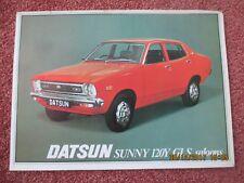 Datsun Nissan Sunny 120Y GLS Saloon 1977-78  Brochure