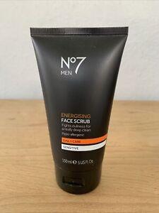 No7 Men Energising Face Scrub Daily Care for Sensitive Skin 5 fl oz
