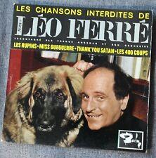 Leo Ferre, les chansons interdites - les rupins + 3 , EP - 45 tours