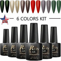 RBAN NAIL 8ml UV Gel Nail Polish Set Kit 6Colors Soak Off Varnish Manicure Salon