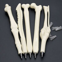 Funny 5Pcs Modish Goodly Ball Point Pen Bone Shape Nurse Doctor Teacher Gift HD3