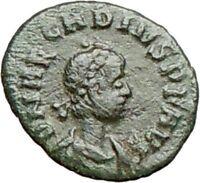 ARCADIUS 383AD Rare Ancient Roman Coin VICTORY NIKE  Chi-Rho Christ  i27900