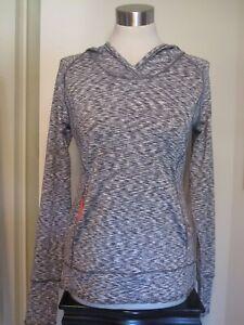 Women's TANGERINE Hooded Yoga Jogging Gym Sweatshirt Heathered Gray Size S NWOT