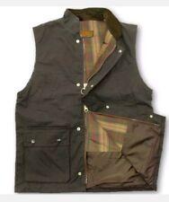 Mens Medium unpadded Wax Waistcoat Vest Gilet Bodywarmer BROWN