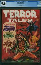 TERROR TALES VOL 5 # 1 CGC 9.6 OWW P NICE SINGLE HIGHEST GRADED TORTURE 1973