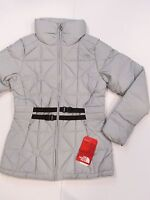 New tag Womens North Face Silver Belted Mera Peak Down Winter Puffr Jacket S M L