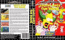 Krusty's Super Fun House SEGA Mega Drive PAL caja de sustitución Arte caso inserto