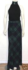 Ralph Lauren Collection 2 pc outfit tartan skirt 6 cashmere sequin plaid top L