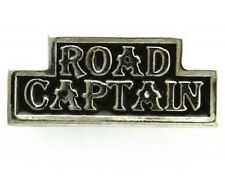 """(#037) ROAD CAPTAIN Silver-plated Pewter Vest / Hat CLUB Pin 1.5"""" x .75"""" (J945)"""