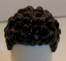 Lego Minifig Hair x 1 Black Hair Coiled and Short