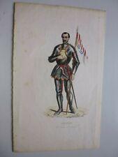 gravurecouleur,circa 1900: Jésuite :costume de guerre