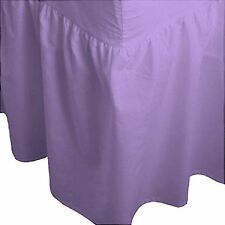 LUXURY FITTED VALANCE SHEET Plain Dyed PolyCotton Valance Bed Sheet BEST QUALITY