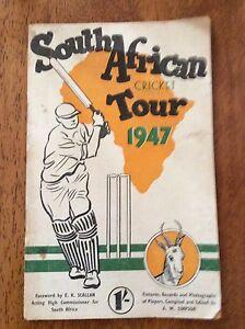 South African Cricket tour 1947 Souvenir brochure