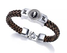 "Death Note Anime L Bracelet Leather 8"" Cosplay US Seller"