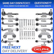 Delphi Audi A6 4B2 4B5 C5 VW Passat 3B3 3B6 Complete Suspension Arm Kit NEW
