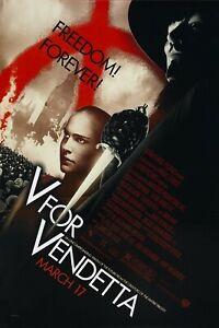 V for Vendetta 2006 v1Movie Poster Glossy 240gsm A1 A2 A3 A4 Framed & Unframed