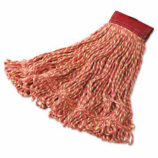 Super Stitch Blend Mop Heads, Cotton/Synthetic, Red, Large
