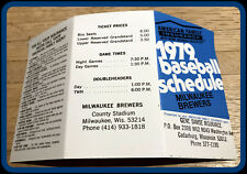 1979 MILWAUKEE BREWERS AMERICAN FAMILY BASEBALL POCKET SCHEDULE FREE SHIPPING