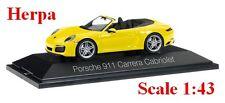 Porsche 911 Carrera Cabriolet 991 II  jaune racing - HERPA -  Echelle 1/43