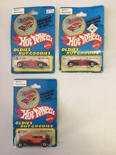 VTG Hot Wheels 1977 Oldies But Goodies Carded Patch Diecast Cars Lot Of 3