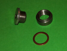 Rear End Drain PLUG and BUNG kit MILD STEEL bung & STAINLESS STEEL plug+ WASHER