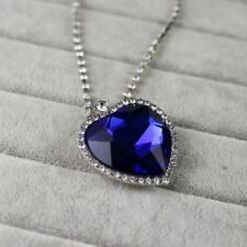 High Quality Titanic The Heart of Ocean Blue Diamond Necklace