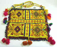 museum grade antique double sided 10 x 9 Armenian seed beaded tribal purse 42076