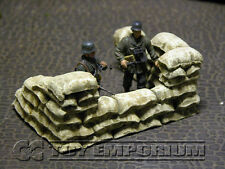 * Build-a-Rama 1:32 Hand Painted WWII Deluxe Sandbag Wall Gun Position Section *