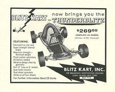 Vintage & Very Rare 1960 Blitz Kart Go-Kart Ad