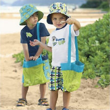 1tlg Kinder Strand Netztasche Tasche für Sandkasten Spielzeug Castle Schale Neu
