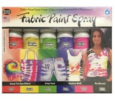 Simply Spray Upholstery Fabric Spray Paint 2.5 FL Oz, 6 Pack, 6 Colors