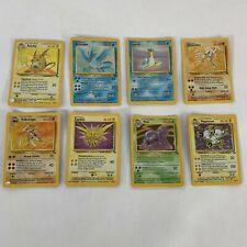 1999 WOTC Pokemon Holo Fossil Base Set Unlimited - 8 Card Lot