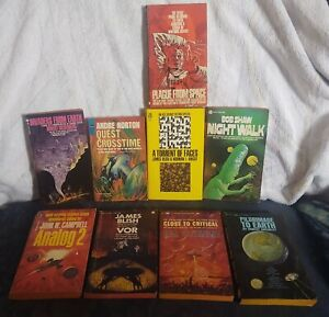 LOT OF 9 Vintage FANTASY SCI FI Paperback Books Science Fiction 50s 60s Blish +
