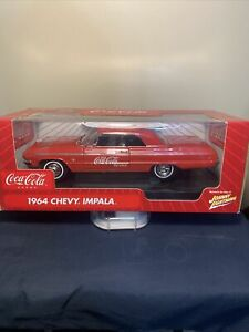 Diecast Coca Cola 1964 Chevy Impala 1:18 Scale New In Box Johnny Lightning