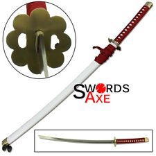 Japanese Anime Ninja Sword Samurai Katana Wheels Red Nylon White Saya Cosplay