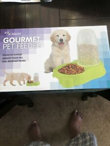 Pet Food Dispenser Dog Cat Automatic Feeder Bowl High Capacity