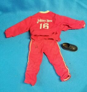 """Vintage JOHNNY HERO 12"""" Sports Doll Track Suit ROSKO 1960s Action Figure SEARS"""