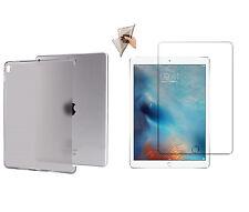 Matt transparente TPU backcase ipad pro 9,7 silicona Cover Funda + cristal blindado lámina