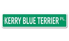 """6439 Ss Kerry Blue Terrier 4"""" x 18"""" Novelty Street Sign Aluminum"""