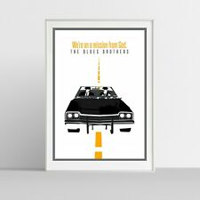 Illustraquotes - BLUES BROTHERS - Poster Giclée Print (firmata)
