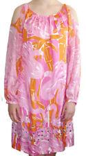 Lilly Pulitzer Cold Shoulder Chauncey Silk Dress 8 Flamingo Fan Dance New $398