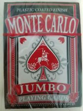 Monte Carlo Jumbo Playing Cards - Plasted Coated Finish NEW A4