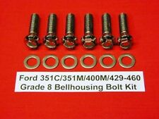 351C 351M 400M 429 460 FORD STAINLESS ARP AUTOMATIC BELLHOUSING BOLT KIT