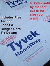9' Tyvek Homewrap Ultralight-Hiking-Tent-Camping-BackpackingTent FREE TIEDOWNS