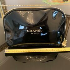 NEW Chanel Snowflake Beauty Cosmetic Makeup Large Pouch Case Bag