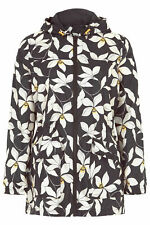 Ex Chainstore Floral Printed Pack Away Mac RainCoat Jacket Size 10 - 24 (W3.11)